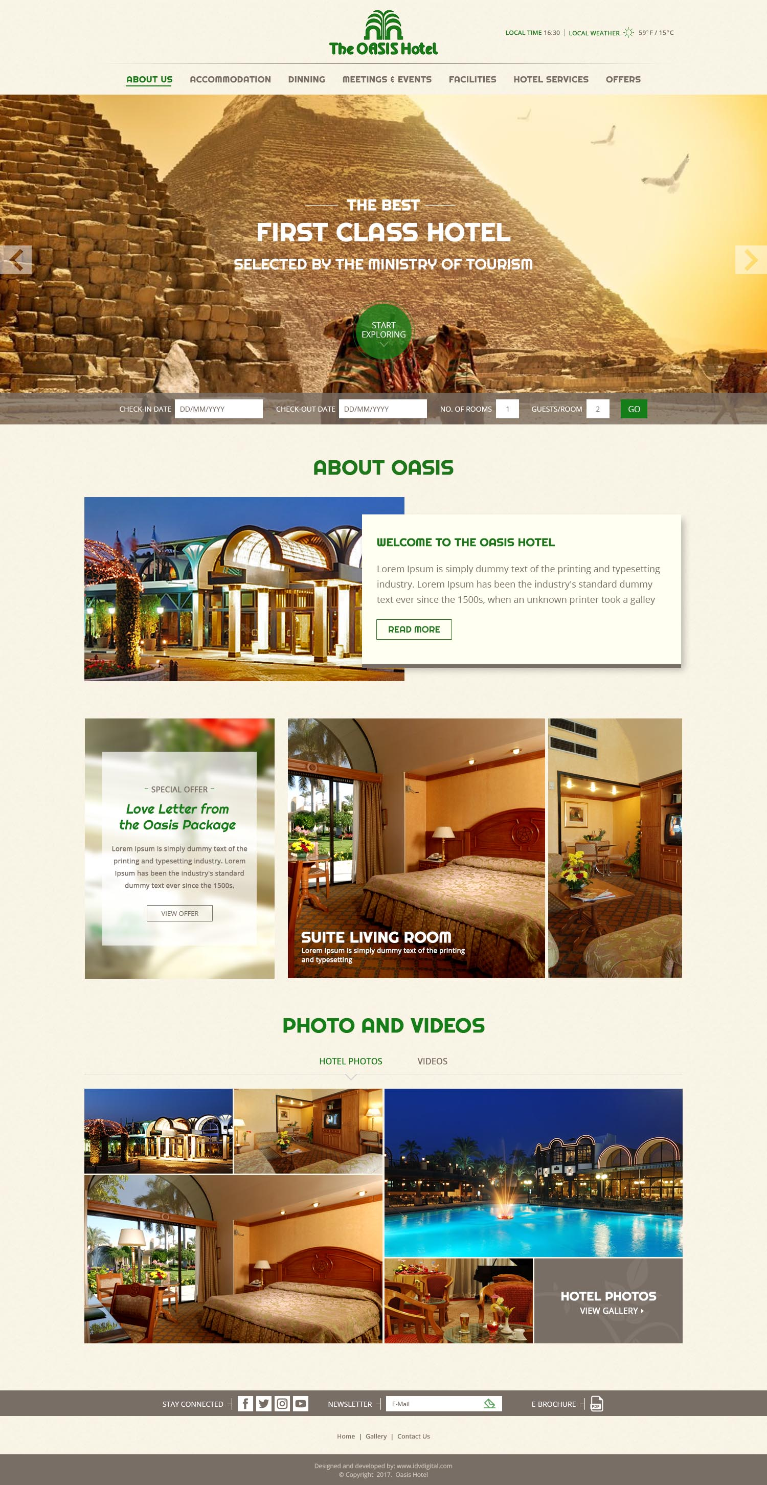 The Oasis Hotel-web design Egypt-web development Doha