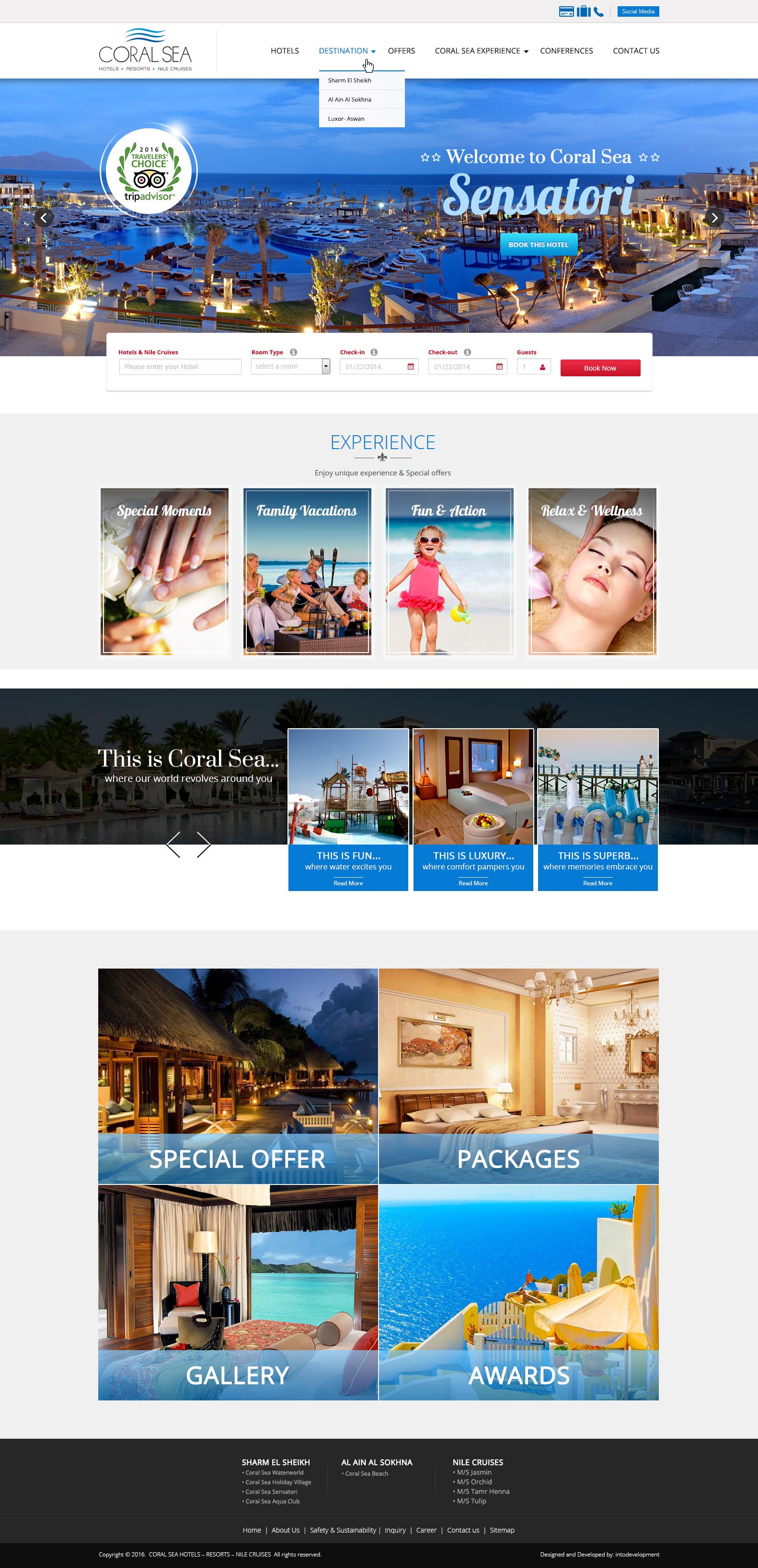 Coral Sea home - web development-egypt-doha