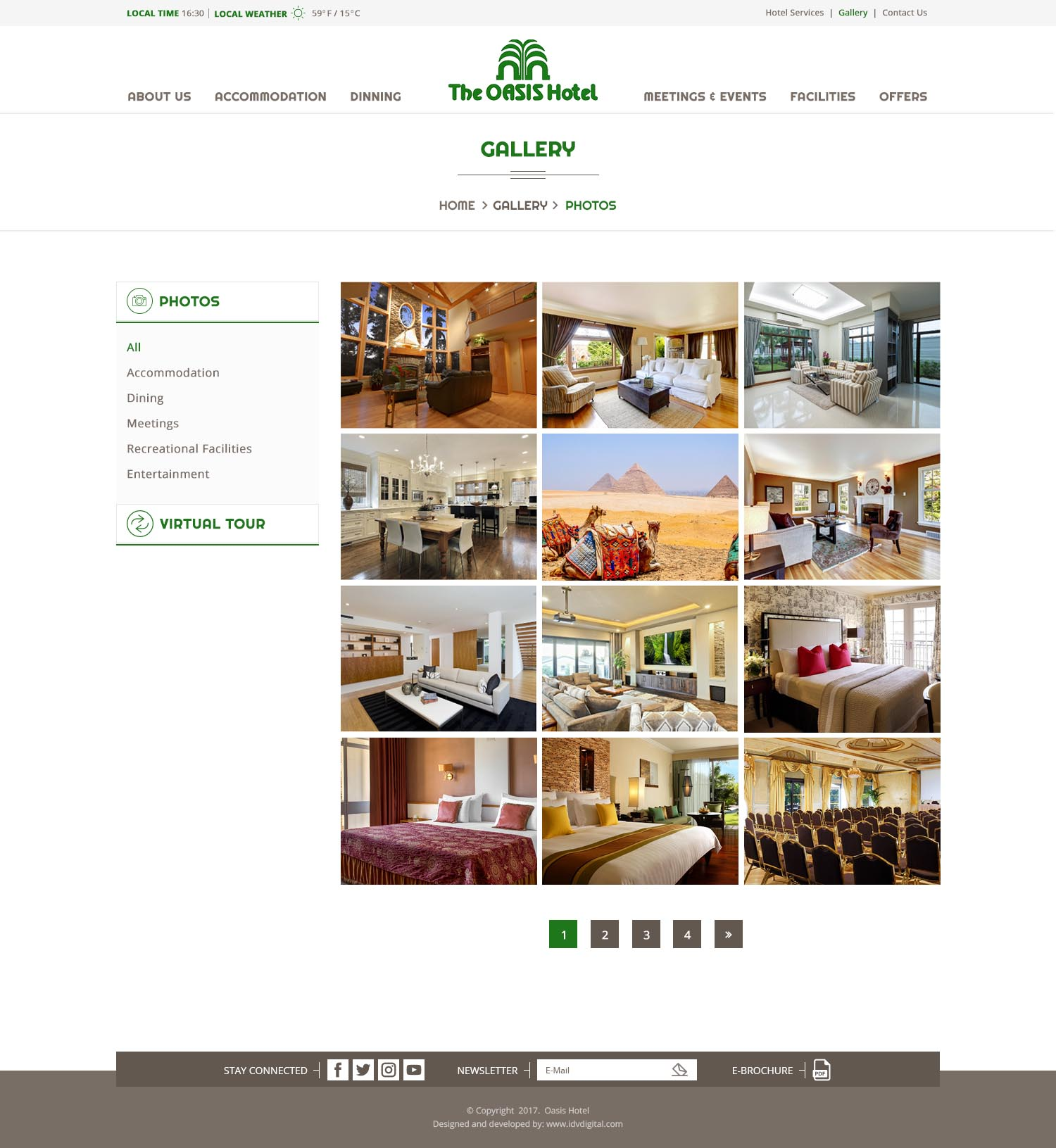 The Oasis Hotel - web development Egypt-web development Doha