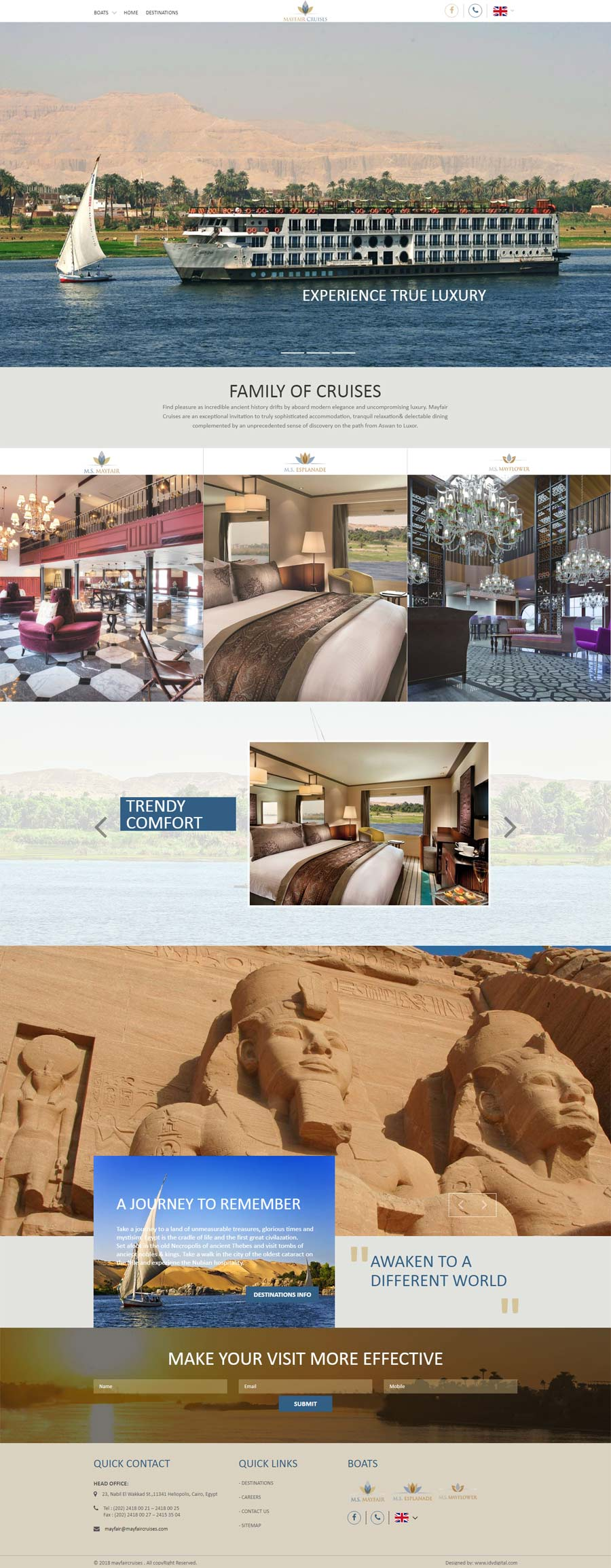 Mayfair Cruises-web design Egypt-web design Doha