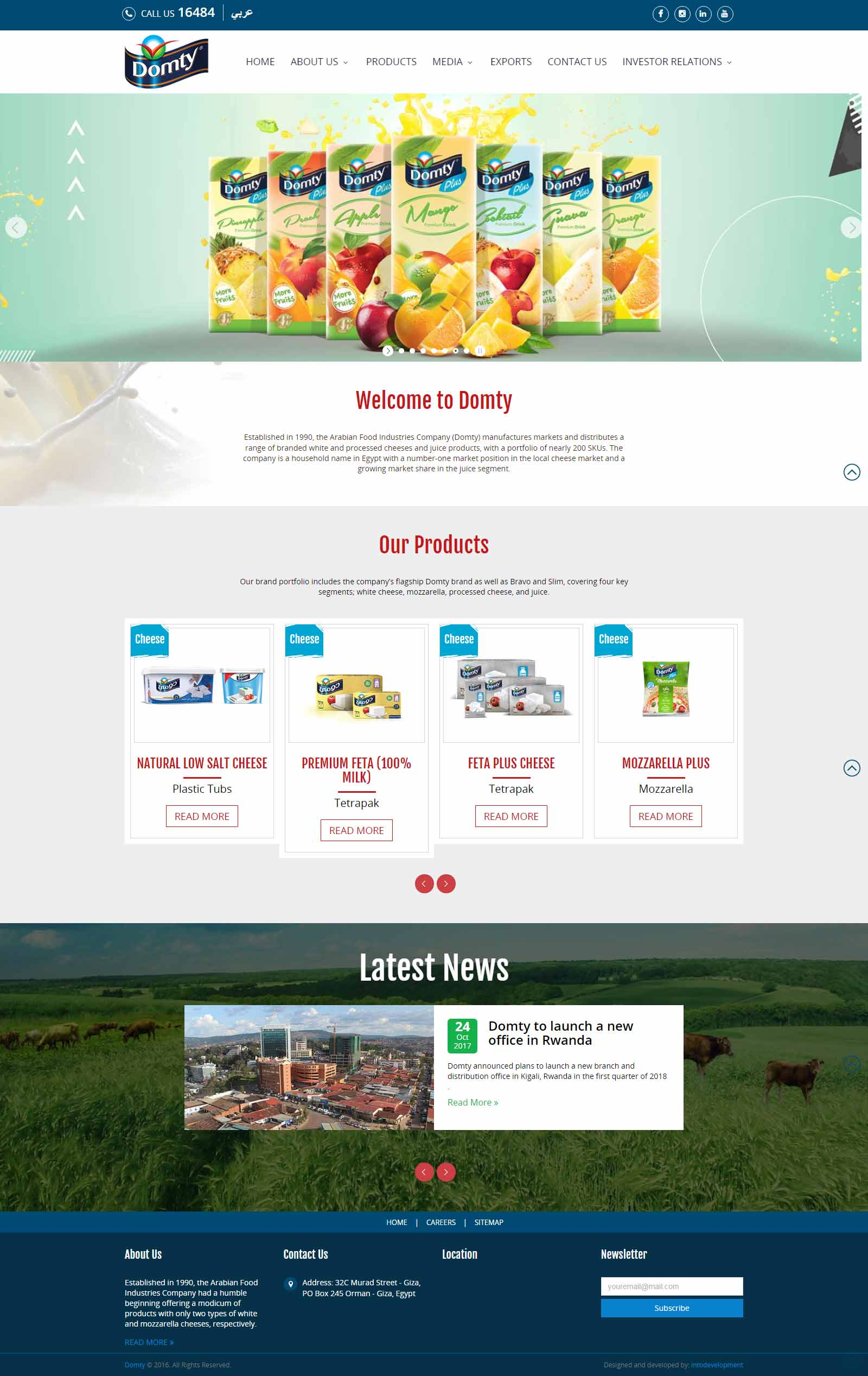Domty-home-web design Egypt-web design Doha