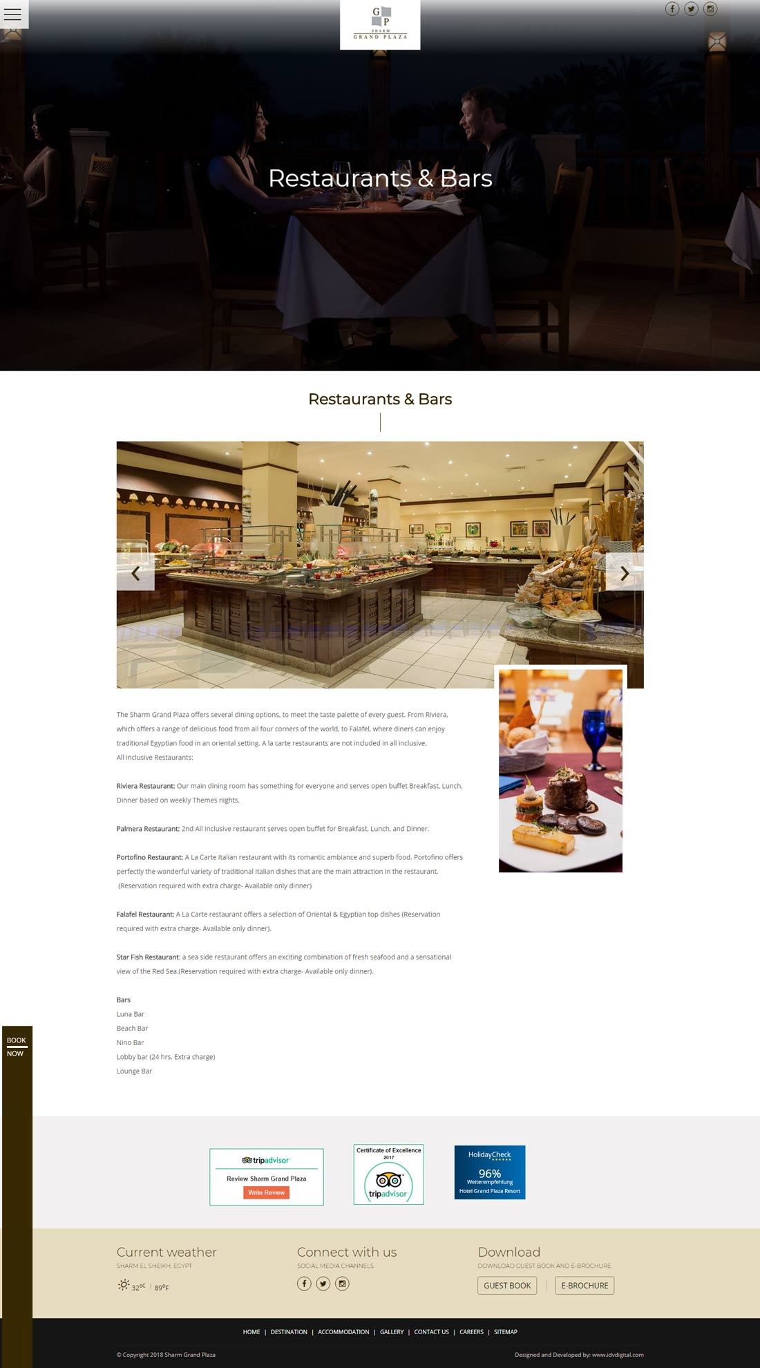 Sharm Grand-dining-web development