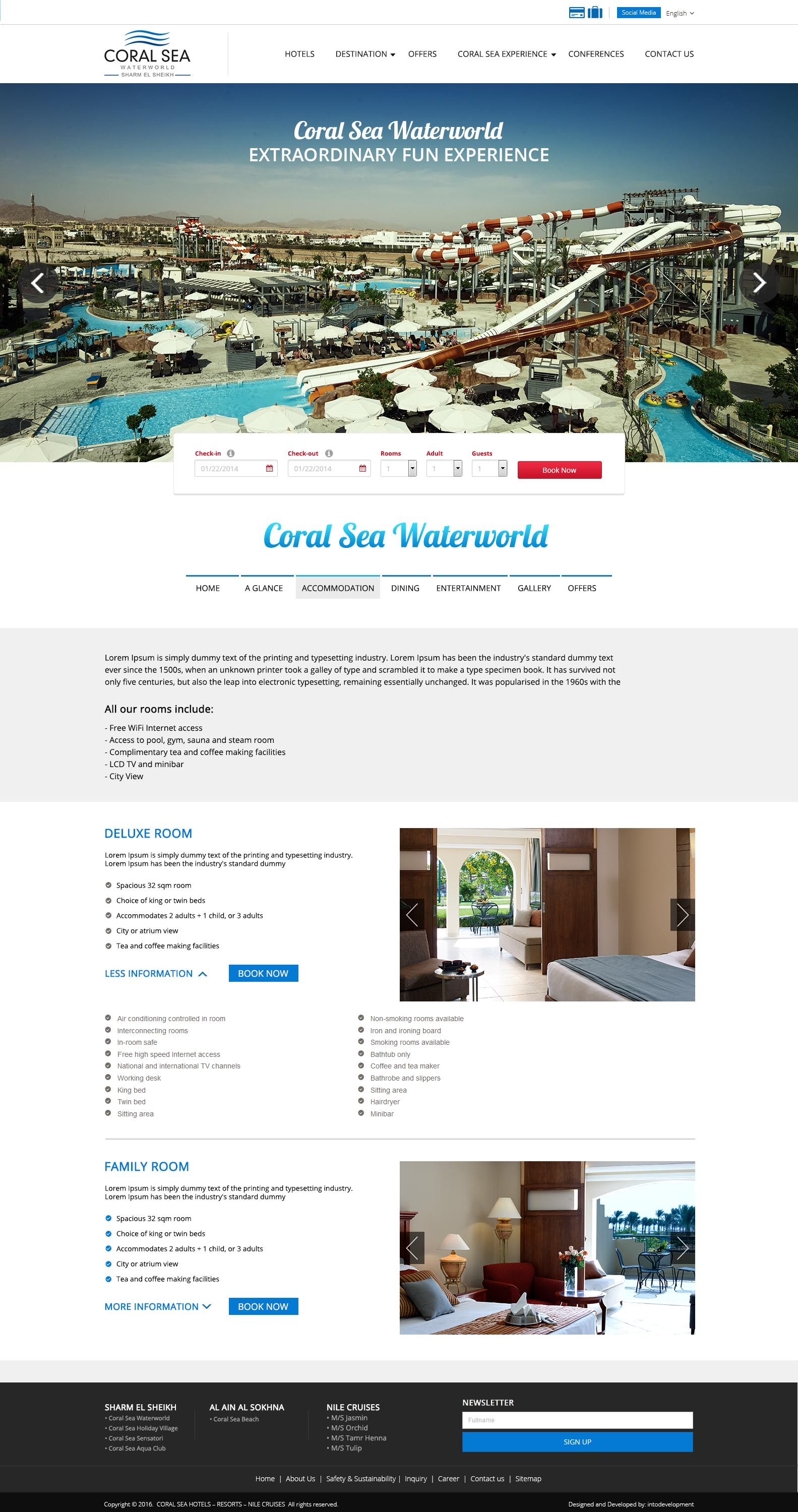 Coral Sea - Accommodation