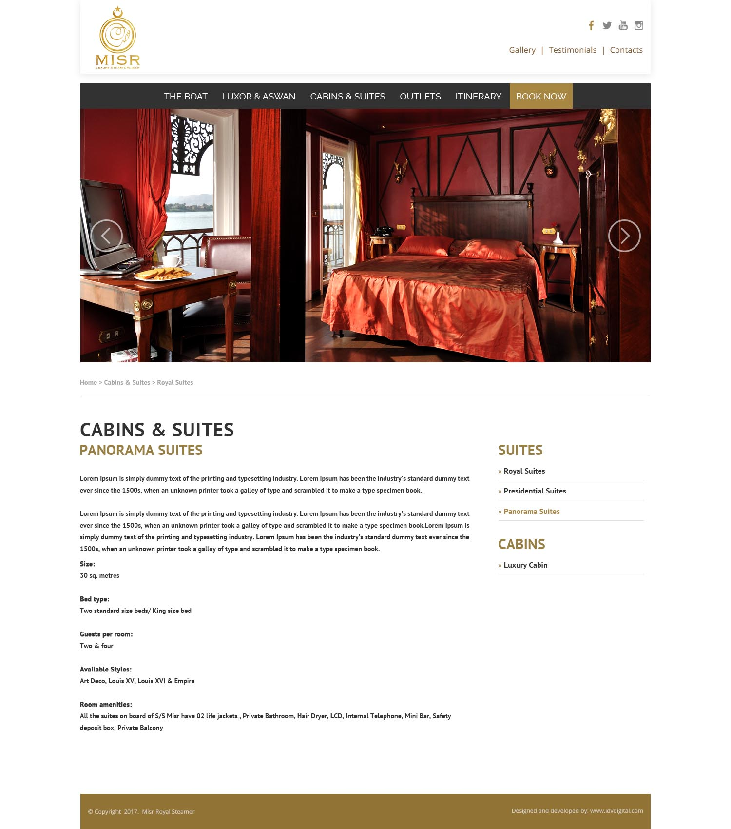 SS Misr-cabins-web design Egypt-web design Doha