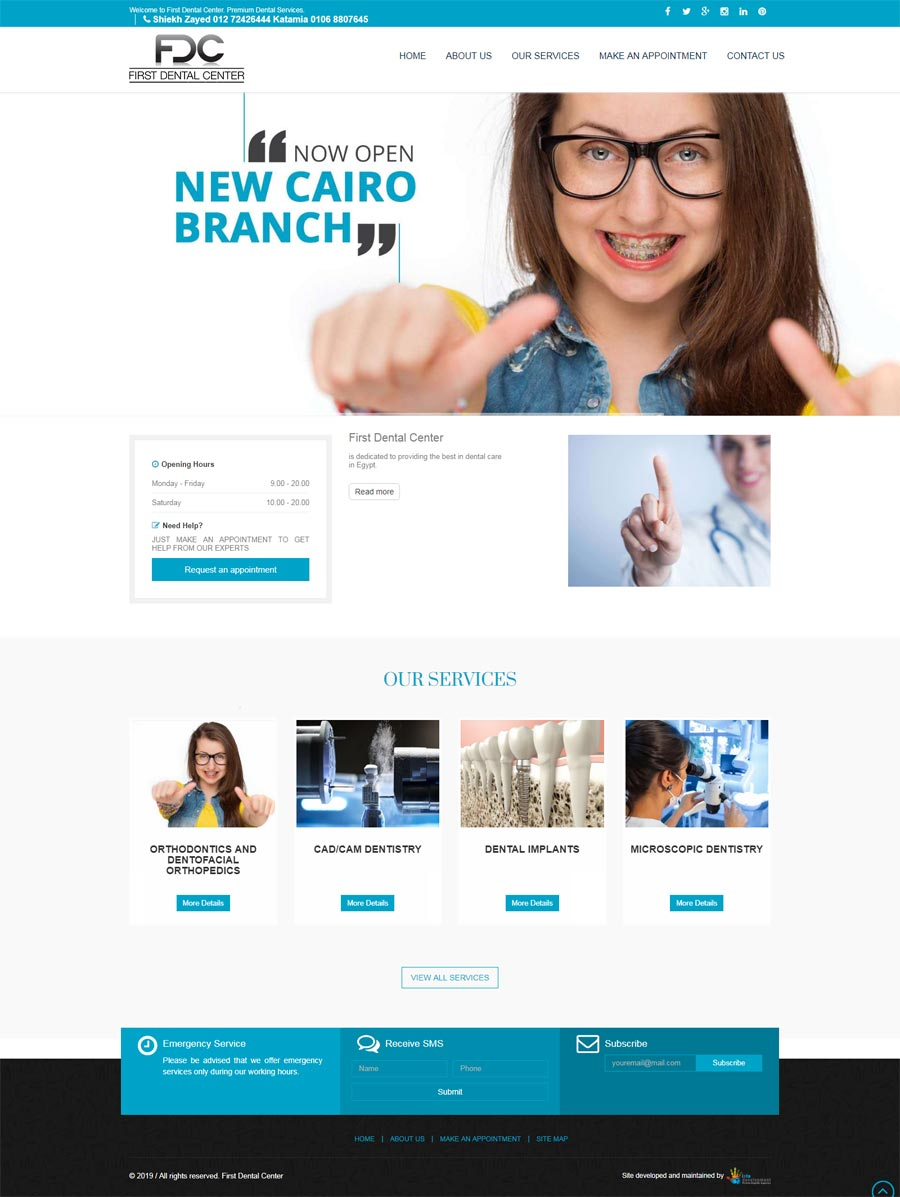 first dental-web design-cairo-doha