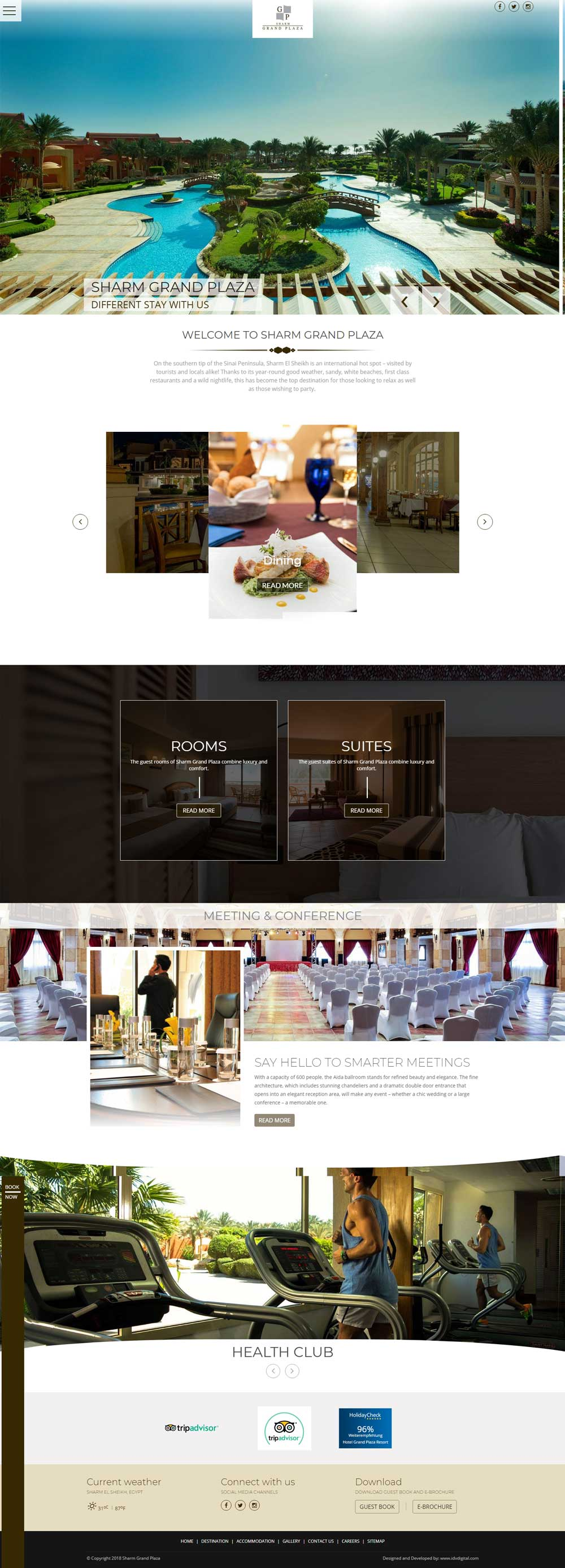 Sharm Grand Plaza - web development