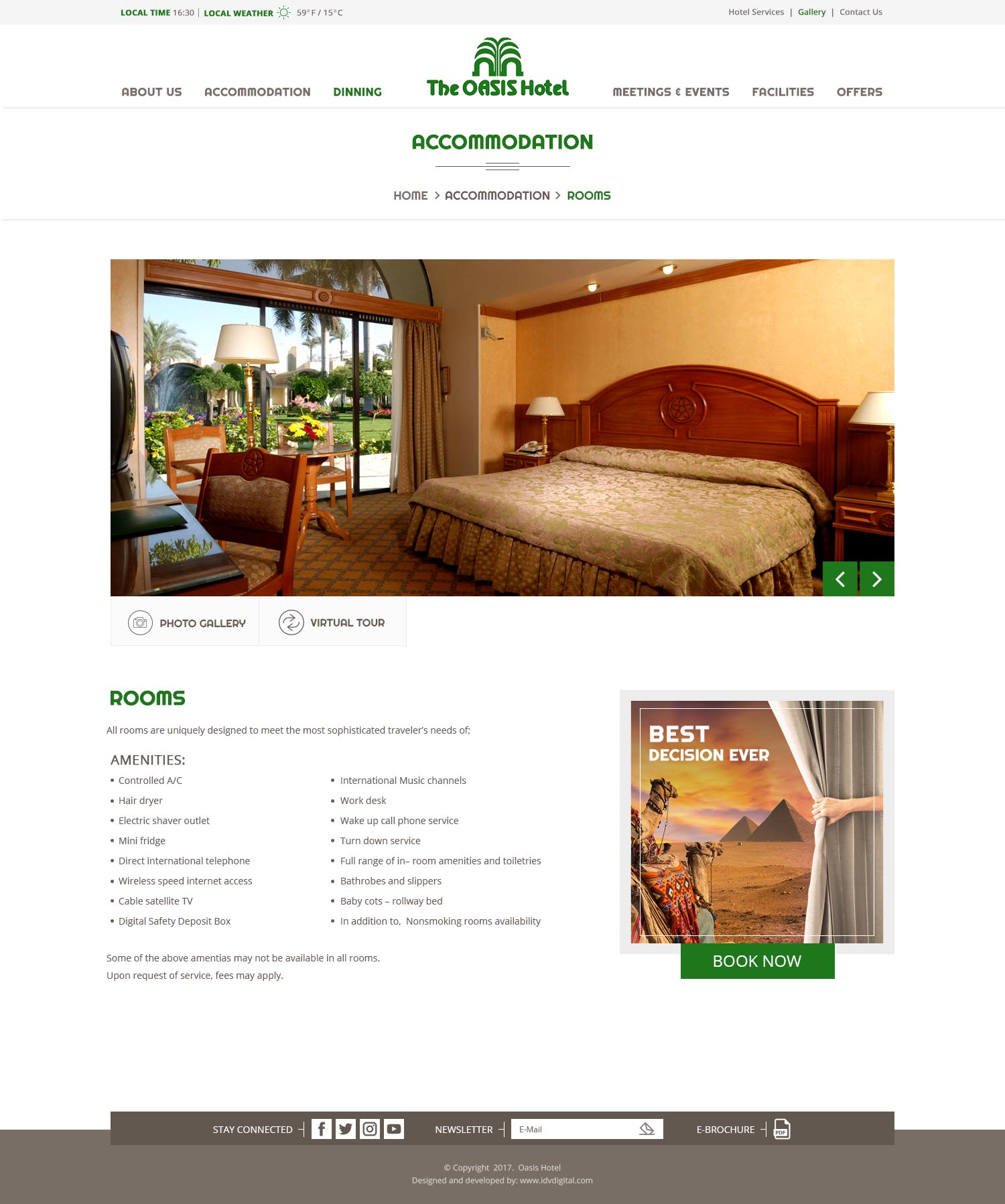 The Oasis Hotel - web development Egypt-web design Doha